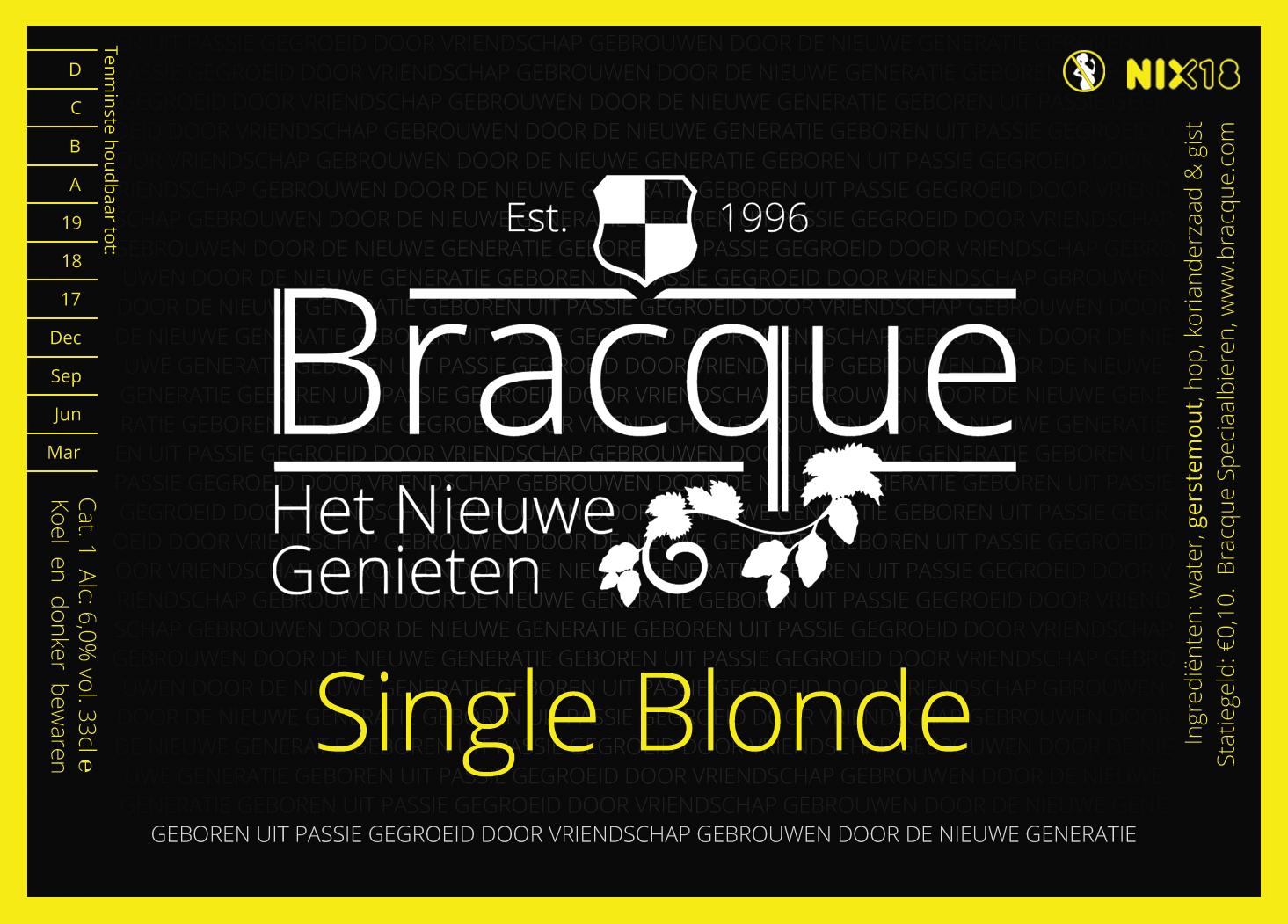 Single Blonde etiket